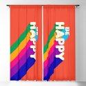 BE HAPPY - rainbow retro typography by happyplum