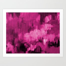 Paint 4 abstract minimal modern art painting canvas affordable art passion pink urban decor Art Print