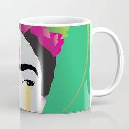 Weeping Frida Green Coffee Mug