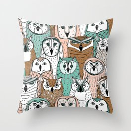 owls limited Throw Pillow