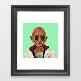 Hipstory -  mahatma gandhi Framed Art Print
