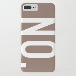 no. iPhone Case