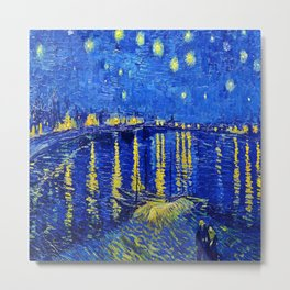 Van Gogh Starry Night Over the Rhone Metal Print