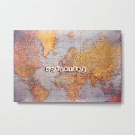 adventure map Metal Print