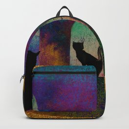 Cats and moon Backpack