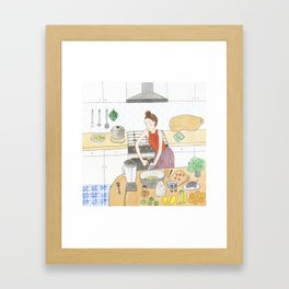 Kitchen Improvisation Framed Art Print