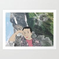 murakami Art Prints featuring HARUKI MURAKAMI by Lucas Eme A