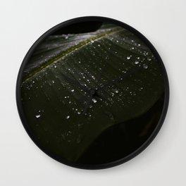 Dark Leaf- Nature/ botanical & travel photography in jungle / rainforest of Bali, Indonesia, Asia Wall Clock