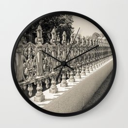 Tokyo Imperial Palace Fence Wall Clock