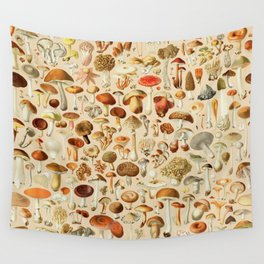 Vintage Mushroom Designs Collection Wall Tapestry