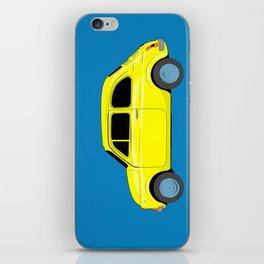 A tiny Fiat (blue) iPhone Skin