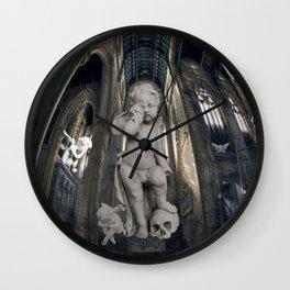 Little Sad Angels Wall Clock