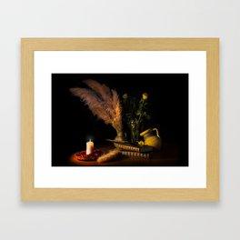 Light books Framed Art Print