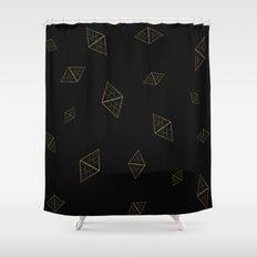 Golden Crystals Shower Curtain