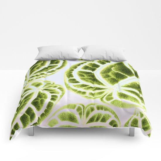 houseplant green Comforters
