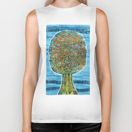 Tree and Birds Biker Tank