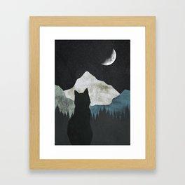 Black Cat 2 Framed Art Print