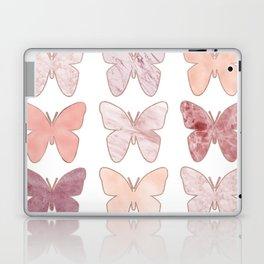 Mixed berry marble butterflies Laptop & iPad Skin