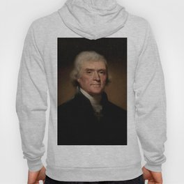 portrait of Thomas Jefferson by Rembrandt Peale Hoody