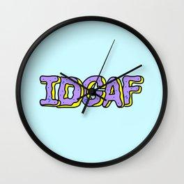 IDGAF Violet Donuts Wall Clock