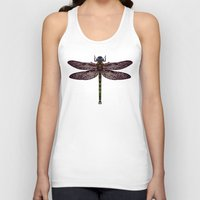 dragonfly Tank Tops featuring dragonfly by Sharon Turner