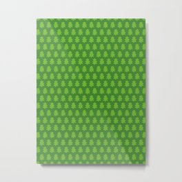 Evergreen Forest Pattern Metal Print