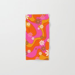 Groovy 60's and 70's Flower Power Pattern Hand & Bath Towel