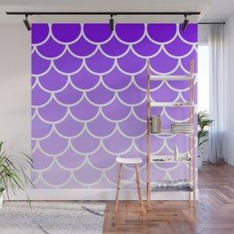 Modern Purple Scales Wall Mural