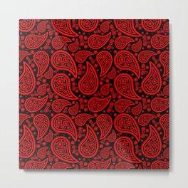 Paisley (Red & Black Pattern) Metal Print