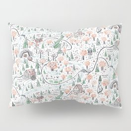 Enchanted Forest Map Pillow Sham
