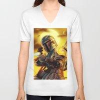 boba fett V-neck T-shirts featuring Boba Fett by Andre Horton