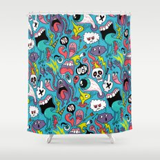 Doodled Pattern Shower Curtain