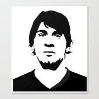 messi Canvas Prints featuring messi by b & c