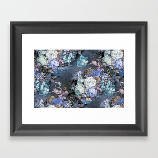 Vintage Blue Jeans Bouquet Framed Art Print