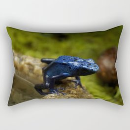 Blue Frog Rectangular Pillow