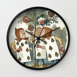 Alice in Wonderland - Painting the roses Wall Clock