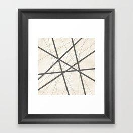 Black Lines Retro Texture Framed Art Print