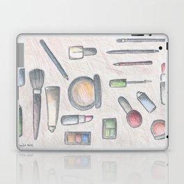 MAKE-UP - pencil and coloured pencil illustration Laptop & iPad Skin