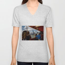NYC from The Ferry Unisex V-Neck
