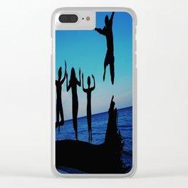 Brownie's beach silhouette Clear iPhone Case