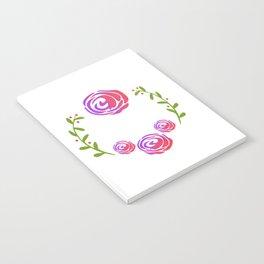 Floral Round Notebook