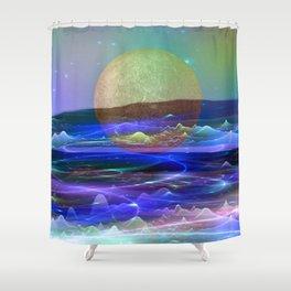 In Between Worlds Shower Curtain