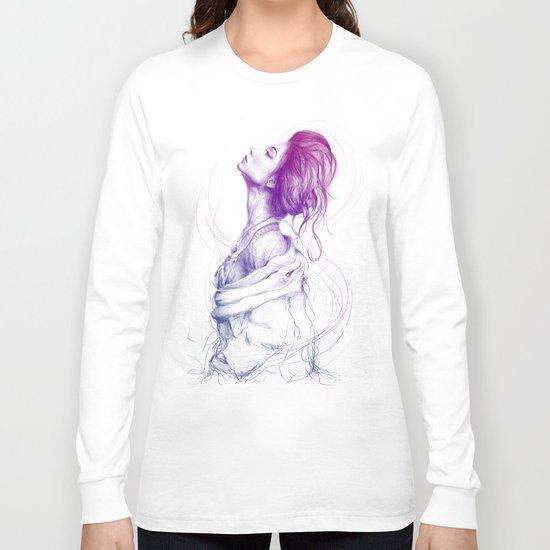 Beautiful Woman Lady Portrait Fashion Art Long Sleeve T-shirt