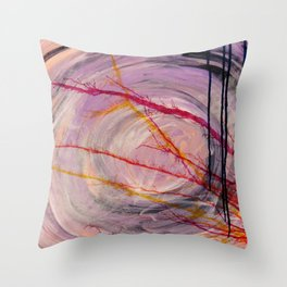 Misty Cave Throw Pillow