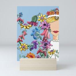 I Love the Flower Girl Mini Art Print