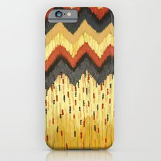 SHINE ON - Gold Glam Chevron Colorful Abstract Acrylic Pattern Painting Modern Home Decor Fine Art iPhone 6 Slim Case
