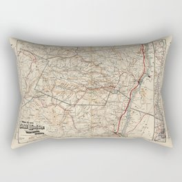 Catskill Mountains Map Rectangular Pillow