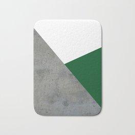 Concrete Festive Green White Bath Mat