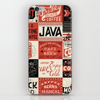 coffee iPhone & iPod Skins featuring Coffee by Mary Kate McDevitt