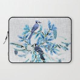 WINTER BLUE JAYS Laptop Sleeve